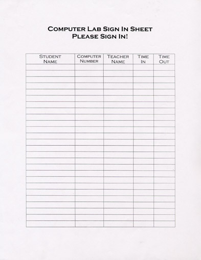 Artifact #3-- Sign-In/Sign-Up Sheets